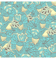 Oak leaves with acorns seamless pattern vector image