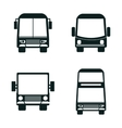 set bus types icons isolated design vector image