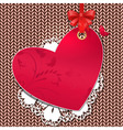 Valentines Knit Background vector image