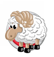 Sheep Orient horoscope sign isolated in circle vector image