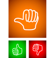 thumbs undecided vector image