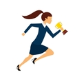 businessperson running avatar with trophy vector image