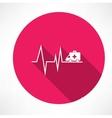 ambulance on pulse icon vector image