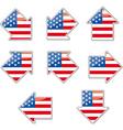 USA flag arrow placards vector image
