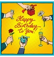Happy birthday to you gifts congratulations vector image