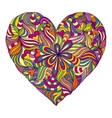 colorful heart on white background vector image