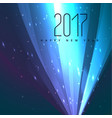 Abstract 2017 glowing background for holiday vector image