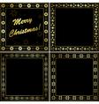 black and gold frames - set vector image