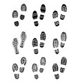 black prints of shoes vector image
