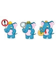 Blue Elephant Mascot with sign vector image