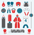 Boxing Objects and Icons vector image