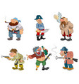 cartoon pirates and robbers vector image