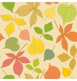 Colorful seamless pattern with hand-drawn leaves vector image