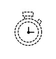 dotted shape clock alarm to know the hour time vector image