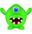 funny green monster vector image