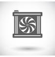 Radiator fan icon vector image