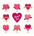 Set of hearts badges logos Retro love vector image vector image