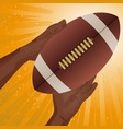 rugby american football catch vector image vector image