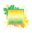 bright gradient banner with autumn leaves frame vector image