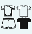 Swimming trunks and t-shirt vector image