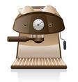 espresso machine vector image vector image