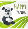 Cute happy panda character vector image