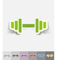 realistic design element barbell vector image