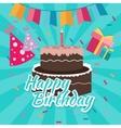 celebrate happy birthday cake flat vector image