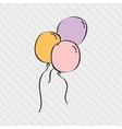 balloons air design vector image