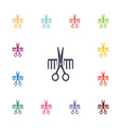 barbershop flat icons set vector image