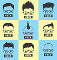 geek cartoon character vector image