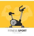 Gym equipment concept Exercise Bike icon vector image