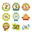 Happy birthday badges set vector image