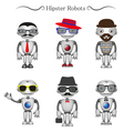 hipster robots vector image