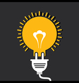 Innovation idea concept with bulb and plug vector image