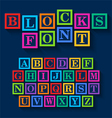 Learning Blocks alphabet vector image