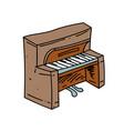 piano cartoon hand drawn image vector image