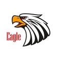 Bald Eagle crying emblem vector image vector image