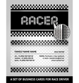 Business card driver race vector image vector image