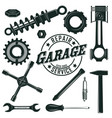 vintage mechanic tools set vector image vector image