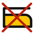 do not iron icon isolated vector image