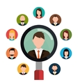 Find person and job interview vector image
