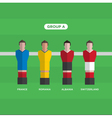football players group A vector image