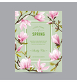 Vintage Floral Colorful Frame - for Invitation vector image