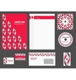 Corporate identity - stationery for company vector image