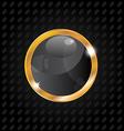 Golden luxury ball isolated on aluminum background vector image