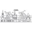 russia tumen architecture line skyline vector image