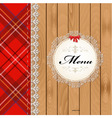 Scottish menu vector image
