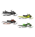 Set or snowmobiles Transport for extreme vector image
