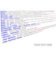 stylesheet source code vector image
